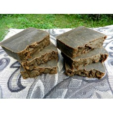Six Bars of DARK Pine Tar Lard and Lye Bar Soap. Closed Kiln Creosote Free