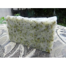 Rosemary and Tea Tree Essential Oil Lard and Lye Bar Soap with Oregano, Echinacea, Peppermint, Dandelion and Wild Violet