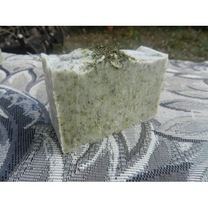 Aloe Vera Soap, Lard and Lye Soap with  Aloe Vera Gel,  Tussah Silk,  Rosemary  Rosemary Essential Oil. Rosemary Soap