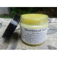 Herbiral Herbal  Skin Salve, 2oz. Lemongrass. Lemon Balm, Anise Hyssop, Echinacea and Oregano Salve.