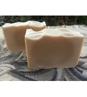 Two Bars of Lard and Lye Beer Soap for Him with Cedarwood and Palmarosa Essential Oils.
