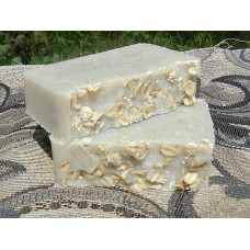 Two Bars of Unscented Coconut Milk Soap with Oatmeal Lard and Lye Bar Soap Fragrance Free