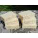 Six Bars of Unscented Coconut Milk Soap with Oatmeal Lard and Lye Bar Soap Fragrance Free