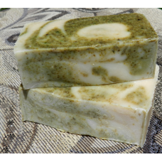 Two Bars of Cucumber and Mint Yogurt Soap with Spearmint and Peppermint Essential Oils Lard and Lye Soap