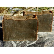 Two Bars of DARK Pine Tar Soap Lard and Lye Soap Closed Kiln Creosote Free