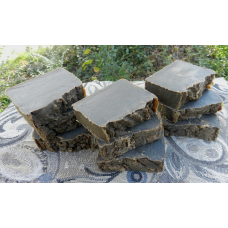 Soap Loaf - Lard and Lye Dark Pine Tar Soap - 9 Bars