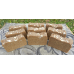 Soap Loaf - Lard and Lye Goats Milk Soap with Honey and Oatmeal - 9 Bars of soap