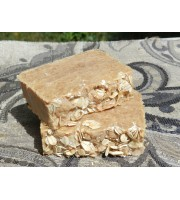 Two Bars of Goat's Milk,  Honey and Oatmeal Lard and Lye Bar Soap.