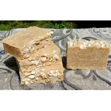 Four Bars of Goat's Milk,  Honey and Oatmeal Lard and Lye Bar Soap.