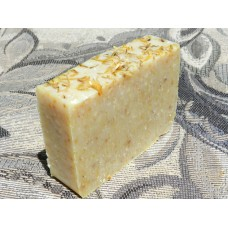 Southern Kitchen Lard and Lye Grits Bar Soap with Calendula and Lemon Essential Oil