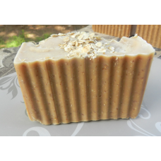 Honey Soap Oatmeal Soap Lard and Lye Soap with Honey and Oatmeal, Single Bar.