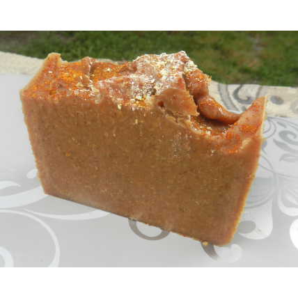 Lard and Lye Turmeric Soap for Eczema and Skin Lightening