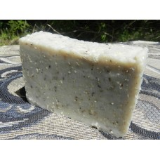 Lard and Lye Hippie Hemp Seed Soap with Bentonite Clay,  Hemp Seed and Peppermint with Peppermint Essential Oil