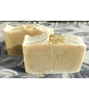 Two Bars of Lard and Lye Lemongrass Soap with Lemongrass Essential Oil.