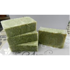Lemongrass Soap with Lemongrass Essential Oil. Lard and Lye Soap with Organic Lemongrass, Four Bars