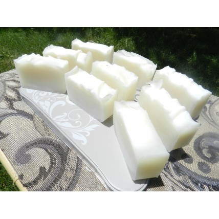 Wholesale soap 25 bars.  Plain Lard and Lye Soap, With labels.