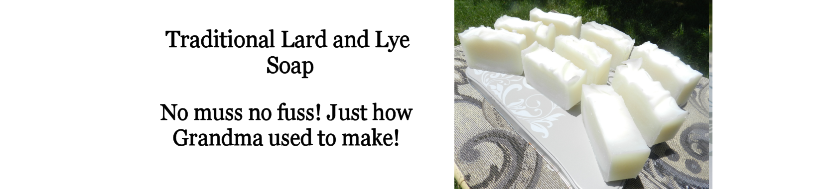 Lard and Lye Soap. Traditional Plain Lard and Lye Soap