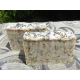 Two Bars of English Lavender and Oatmeal Lard and  Lye Bar Soap with Lavender Essential Oil.