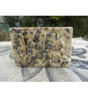 Salt Bar with English Lavender and Californian Sea Salt. Scented with Pure Lavender Essential Oil