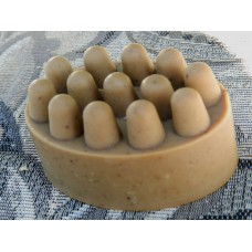 Lard and Lye Soap Massage Bar with Cocoa Butter, Cocoa Powder,  Yogurt and Coffee. Fragrance Free Great Gift for Asthmatics!