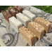 Soap Loaf Equivalent  - Milk Soap Selection 9 Bars Goats Milk Coconut Milk  Almond Milk Lard and Lye Tallow