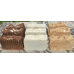 Soap Loaf Lard and Lye Milk Soap Selection 9 Bars. 3 x Goats Milk, 3 x Coconut Milk and Oatmeal, 3 x Almond Milk Cocoa Honey and Oatmeal.