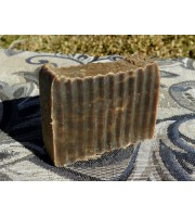 Pine Tar and Cedar Wood Essential Oil Lard and Lye Bar Soap. Single bar.