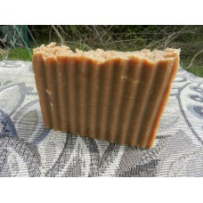 Pine Tar and Goat's Milk Lard and Lye Bar Soap. Single bar.