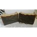 Pine Tar Soap Lard and Lye Soap with Pine Tar. Two Bars