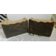 Pine Tar Lard and Lye Soap with Pine Tar. Two Bars. Closed Kiln and Creosote Free
