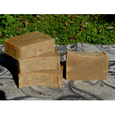Four Bars of Light Pine Tar Soap Traditional Lard Soap with Pine Tar. Great soap for skin conditions.