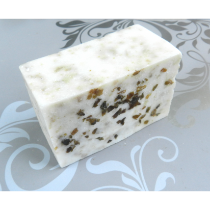 Salt Bar with Red Kelp and Californian Sea Salt. Lard and Lye Salt Bar Soap