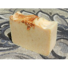 Turmeric Lard and Lye Soap with Honey, Oatmeal, Lemon and Eucalyptus Essential Oils For Eczema or Skin Lightening