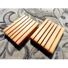 Two Cedar Wood Soap Savers.  Hand made in the USA and Finished with Mineral Oil